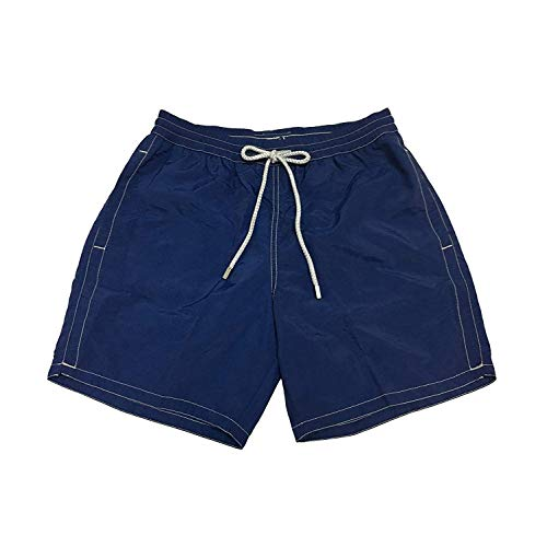 Zeybra Männerkostüm Boxer-Shorts Blau Mod AUB001 100% Polyamid Made in Italy - Blau, IT 52 - XL