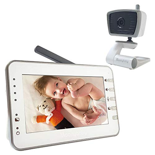 MoonyBaby Trust 30 Baby Monitor with 4.3 Inches Large Screen, Power Saving/Vox (Voice Activation) Auto Night Vision, Temperature Monitoring, 2-Way Talkback (Manually Rotated Camera)