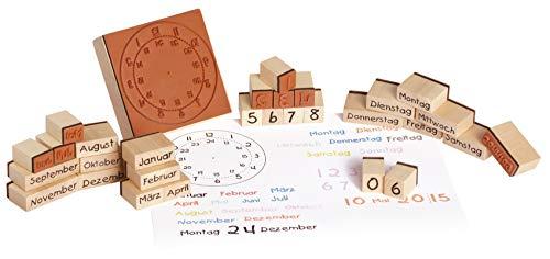 EDUPLAY 220124 Holzstempel Kalender