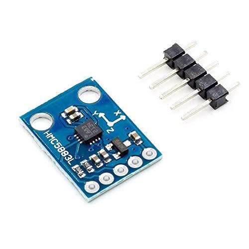 LiuliuBull L GY-273 3V-5V QMC5883L HMC5883L Dreifachachse Kompass Magnetmesser Sensormodul DREI Achsen Magnetfeldmodul für Arduino