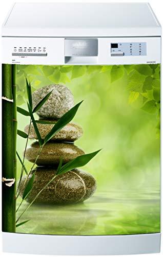 Art déco Stickers Pegatinas de lavavajillas o imán para lavavajillas de bambú, 60 x 60 cm
