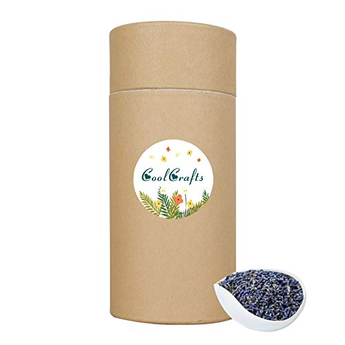 CoolCraft Dried Lavender Buds, Natural Dried Lavender Flowers for Soap, Candles, Lavender Sachet, Wedding Toss - 4 OZ