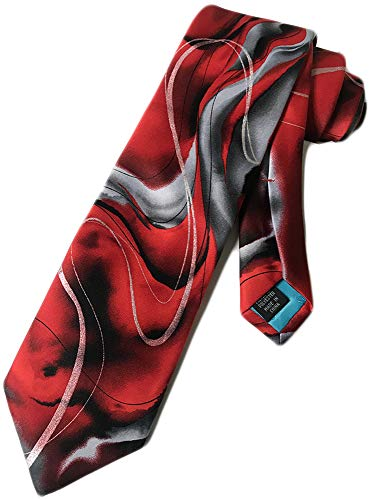 Jerry Garcia (Rhino and Puppy-Red) tie Mens Necktie