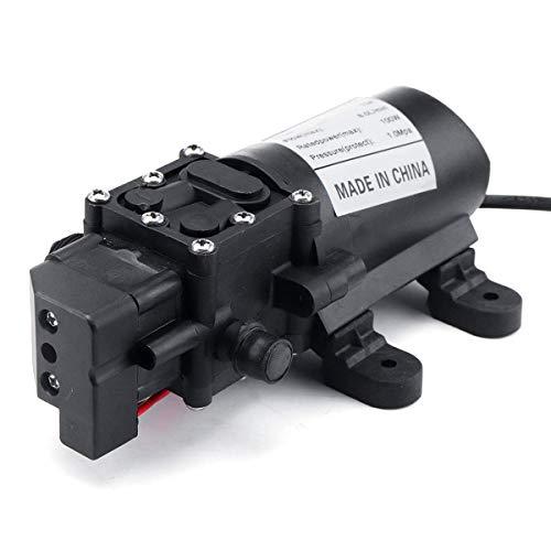 Manyao Elektrische Tauchpumpe 12V 160P Membran Selbstansaugend Wasserpumpe Automatic Switch Druckreiniger Wasserpumpe Hochdruck for Schwimmbäder, überflutete Keller, große Teiche