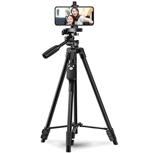 Tripod, Smartphone Tripod, Remote Control, Camcorder, SLR Camera, Mini Tripod, Sankyaku, 3-Way Head, 4-Level Extending, 360 Rotation, Storage Bag Included, Compatible with iPhone/Android Smartphones, Etc.