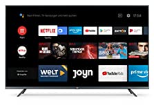 "Xiaomi Mi Smart TV 4S 55"" (4K Ultra HD, Triple Tuner, Android TV 9.0, Fernbedienung mit Mikrofon, Amazon Prime Video und Netflix) © Amazon"