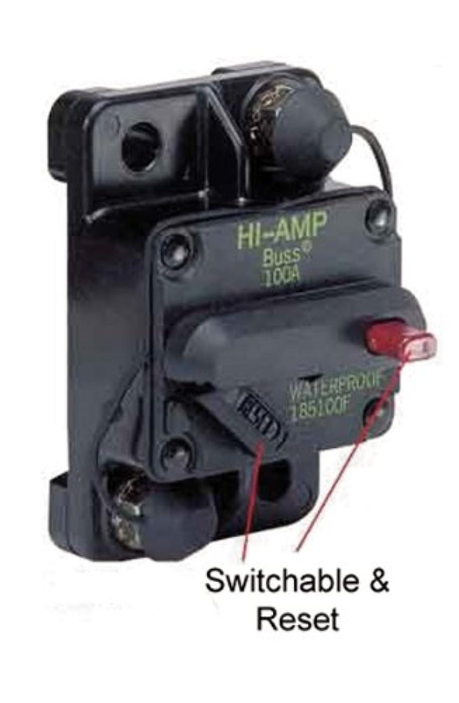 Marinco 185050F-01-1 Marine Switchable Reset Circuit Breaker-50 Amp, Flush Mount