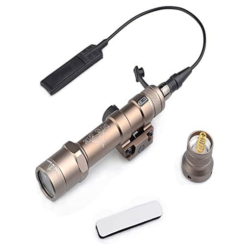 【element airsoft】Night-Evolution NE04056 M600B Mini Scout Light Linterna táctica Luz montada en arma Pro Alto brillo Super brillante Momentáneo constante para caza al aire libre 460 lúmenes DE