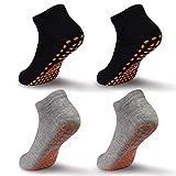 ELUTONG Socken Kinder Jungen Mädchen Antirutschsocken - 4 Paar Baumwolle Kindersocken für Kleinkind Jungen & Mädchen für 2-5 Jahre Größe 20-32