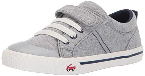 See Kai Run Boy's Tanner Sneaker, Gray/Blue Jersey, 2.5Y M US Little Kid