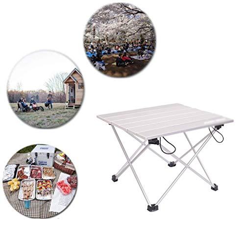 XYAA Aluminium Folding Camping Tisch, Roll Up Ultralight Beweglicher Roll-Up-Table Für Outdoor, Kochen, Picknick Camping Wandern Reise Angeln Strand BBQ (40 * 34 * 29Cm)