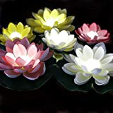 LACGO LED Waterproof Floating Lotus Light, Pond...