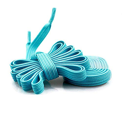 DB Elastic No Tie Shoelaces for Kids and Adults - Wide Athletic Shoelaces - Running Shoelaces for Sneakers and Casual Shoes Sky Blue Shoe Strings