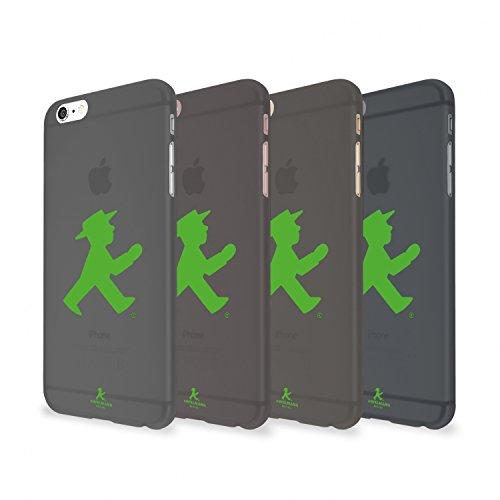 """Artwizz 0791-1829\""""Rubber Clip Schutzhülle für Apple iPhone 6/6s Translucent schwarz mit grün Walker (Ampelmann Edition)"""