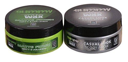 Fonex Styling Pack NEW : Gummy Styling Wax Matte Finish & Casual Look (je 150 ml) | Haarwachs ohne Glanz | Haarwax für Männer, Herren | Hair wax men für kurze & lange Haare