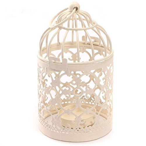 Leisial Hierro Hollow Birdcage Candle Holder Romántica Creativa Vela Farol Metal Vintage Classic Europeo Casa Tabla Decoración 14 * 8 cm