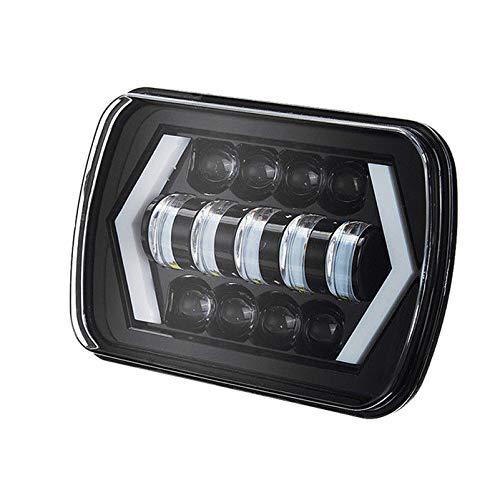 Gesh Faros delanteros LED de halo de 17,2 x 17,7 cm, cuadrados LED con flecha ojos de ángel Drl luz de señal de giro sustituye a H6054 H5054 H6054Ll 69822 para camiones Xj Sedans Gmc