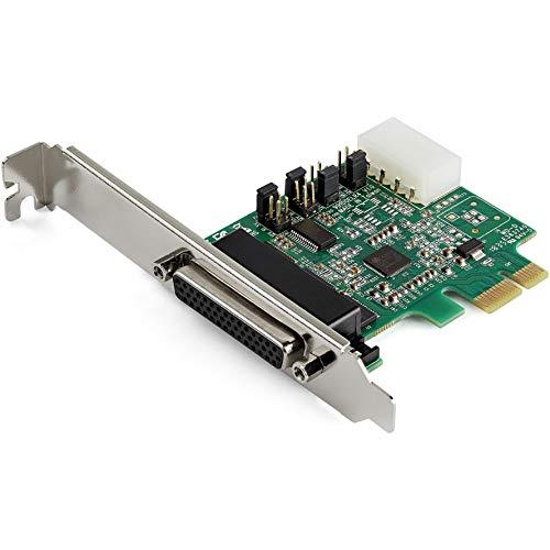 PCI Express serielle Schnittstellenkarte mit 4 Anschlüssen - 16950 UART - 256-Byte-FIFO-Cache - ASIX AX99100 - Vollprofilhalterung - Ersatz für PEX4S952 (PEX4S953)