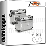 kappa maletas laterales kfr4837apack2 k?force 37 lt + portamaletas laterales monokey cam side compatible con bmw f 800...