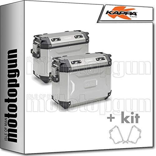 kappa maletas laterales kfr4837apack2 k?force 37 lt + portamaletas laterales monokey cam side compatible con ducati multistrada enduro 1200 2016 16