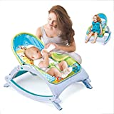 Infant-to-Toddler Rocker, Electric Baby Swing Cradle,3 in 1 Portable Swing Cradle with Music & Soothing Vibrations, Baby Bouncer Seat Rocking Chair for Sitting up (US Fast Shipment, Multicolour 2)