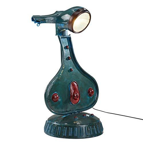 FineBuy Tischlampe FB52135 bunt 72 cm Metall Design Stehlampe Vintage Style | Roller-Retro Nachttischleuchte modern | Industrial Lampe E27 Fassung | Tischleuchte Shabby Wohnzimmerlampe rund