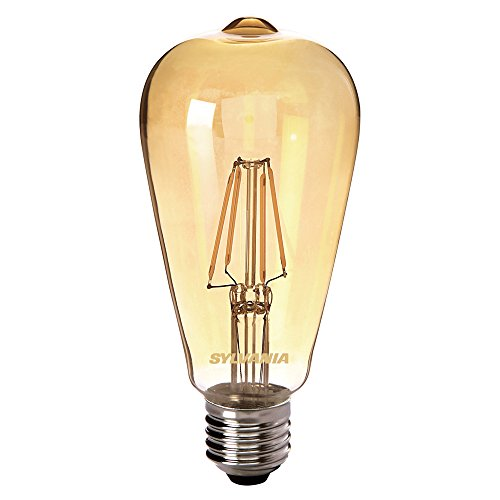 Sylvania SYL0027177 Ampoule LED à filaments Toledo RETRO edison ambre, 4 W, 230 V, Blanc