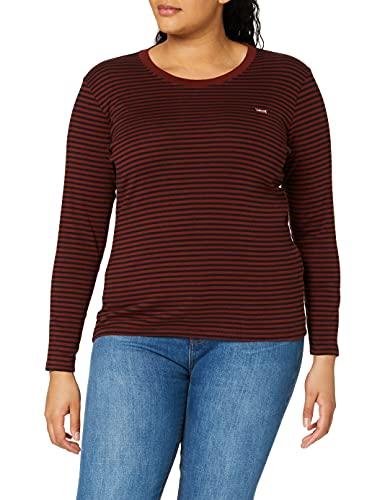 Levi's Plus Size Damen PL Long Sleeve Baby Tee T-Shirt, Aya Madder Brown, 2 X
