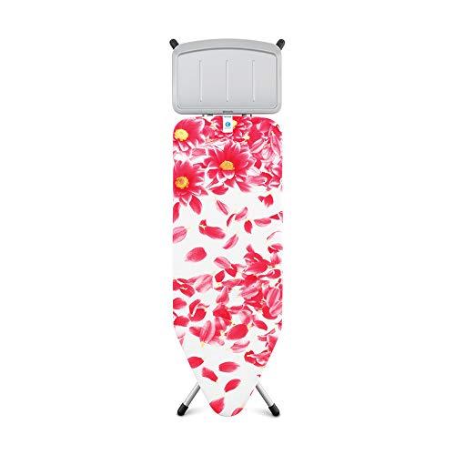 Brabantia Bügelbrett mit Dampfstationsablage, Größe C, Groß Pink Santini