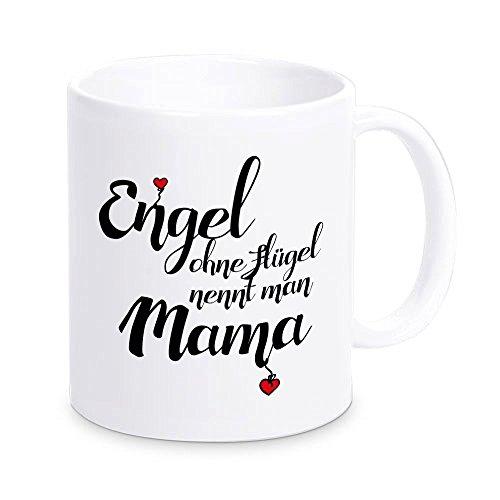 4you Design MARKENWARE Tasse Engel ohne Flügel nennt Man Mama, Kaffeebecher, Geschenkidee, Muttertagsgeschenk, Geschenk zum Muttertag, zu Weihnachten