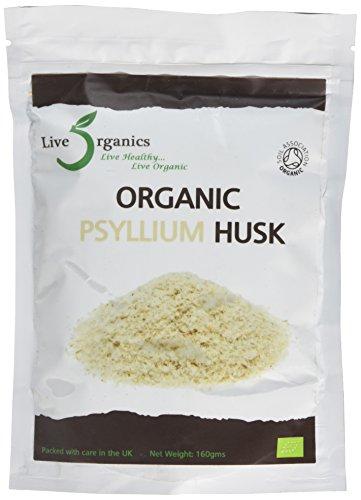 Live Organics Psyllium Husk 160g - (Certified Organic)