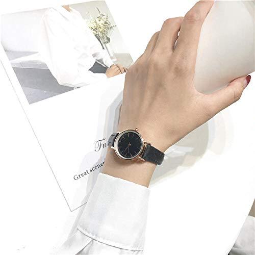 Reloj Mujer,1pc Retro Classic Women s Fashion Relojes de Cuarzo Simple Small Women Dress Watch Popular Luxury Ladies Relojes de Pulsera de Cuarzo Regalos-Todo Negro