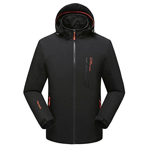 WALK-LEADER Homme extérieur Coupe-Vent imperméable Escalade randonnée Manteau Softshell pour Femme - Noir - XXXXX-Large