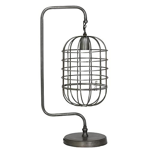 Light & Living Diseño Lámpara de Mesa 28x 20x 59cm Brenda Alambre Vintage Estaño
