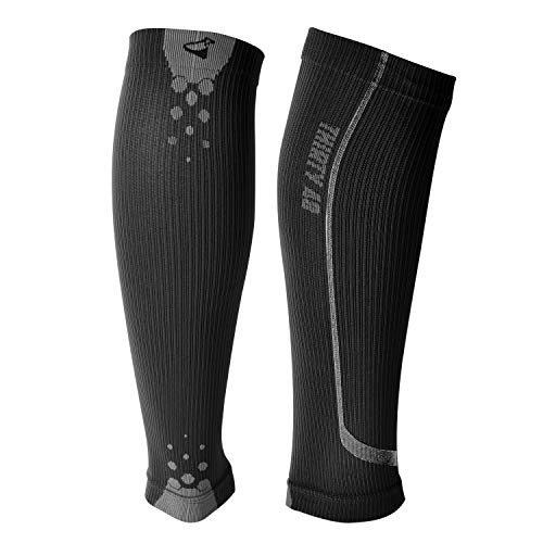 Graduated Calf Compression Sleeves by Thirty48 | 15-20 OR 20-30 mmHg | Maximize Fast Recovery by Increasing Oxygen to Muscles