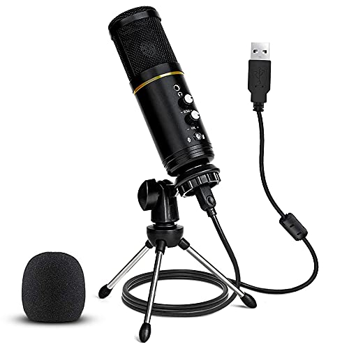 USB Microphone, Stilnend Metal Condenser Recording Microphone for Computer, Laptop MAC or Windows,...