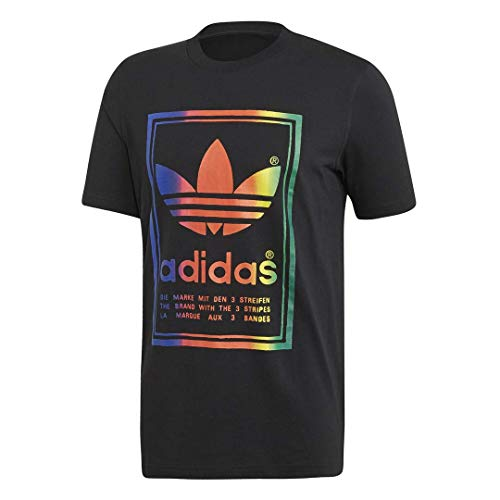 adidas Originals Men's Vintage Tee, black/Multi, Small