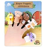 aeioubaby.com Fingerpuppen für Kinder und Babys | 5 Bauernhoftiere | PVC-Handpuppen ohne BPA | Badespielzeug | Handpuppen Geschichten