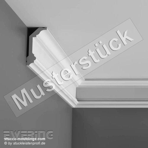 Preisvergleich Produktbild Musterstück 20 cm Orac Decor Muster C321 Deckenleiste Eckleiste LUXXUS Profilleiste Stuckleiste Zierleisten Zierprofile