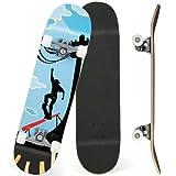 Skateboard Erwachsene 31 x 8 Zoll Komplettboard mit Doppelklick,...