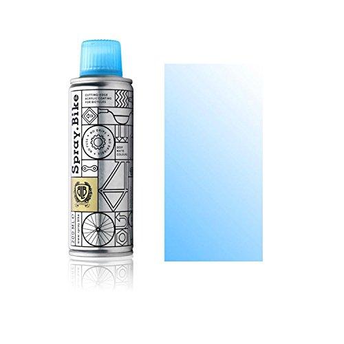 """Fahrrad Lackspray Pocket Clear - halb-transparenter Farblack mit Klarlack Optik für eine Glanz-Lasur, Überblendung oder Schattierung - praktische 200ml Spraydose (Neon Hellblau""""Fluro Blue Clear"""")"""