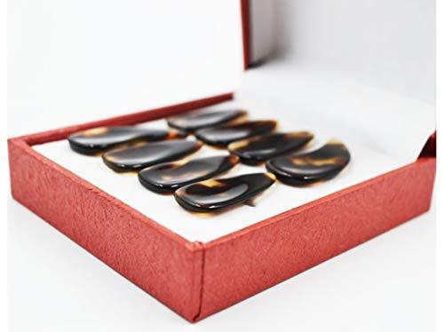 Zither Zubehör 8-teiliges Guzheng Nagelset Chinese Zither Eine Box mit acht Guzheng Zubehör für Erwachsene und Kinder L