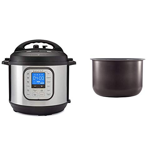 Instant Pot Duo Nova 7-in-1 Electric Pressure Cooker, Sterilizer, Slow Cooker, Rice Cooker, Steamer, Saute, Yogurt Maker and Warmer, 6 Quart, 14 One-Touch Programs & 6 Quart Ceramic Pot