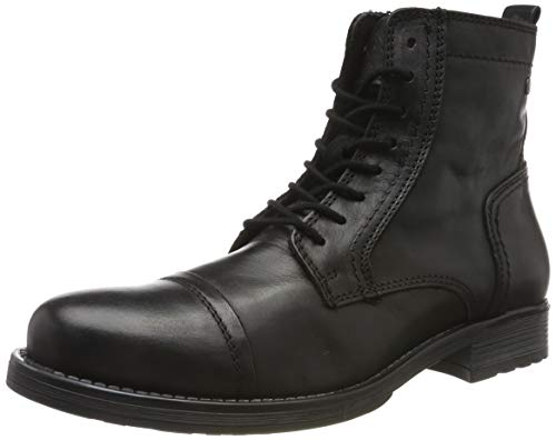 JACK & JONES Herren JFWRUSSEL Leather 19 Stiefelette, Grau (Anthracite Anthracite), 43 EU