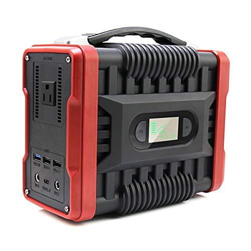UKing 222Wh/60000mAh Almacenamiento Suministro de Energía, Portátil Generador de Camping 220W Salida con USB/QC3.0/AC/DC para Viajes, Picnics, Acampada