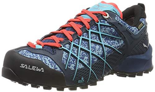 Salewa WS Wildfire Gore-TEX, Zapatos de Senderismo Mujer, Azul (Poseidon/Capri), 39 EU