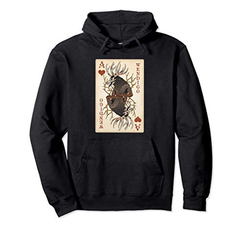 Wendigo - Original Cryptid Playing Card Tarot Ace of Hearts Sudadera con...