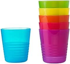 Ikea Kalas 101.929.56 BPA-Free Tumbler, Assorted Colors, 6 Count, Pack of 2