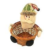 Navidad Dulces De Almacenamiento Cesta De Navidad Decoración De Escritorio Navidad Niños Canasta De Caramelo Decoración De Navidad Decoración De Navidad Cesta De Navidad Tejida a Mano