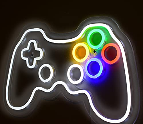 ChirpCo Gaming Decor, LED Gamepad Neon Wall Art, Used in PC Game Rooms, Retro Game Rooms, Twitch Streamer Decor or Boys & Girls Game Room, Also Works As an LED Kids Night Light, Makes A Perfect Gift